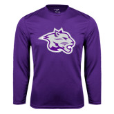 Syntrel Performance Purple Longsleeve Shirt-Spirit Mark
