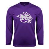 Syntrel Performance Purple Longsleeve Shirt-Spirit Mark