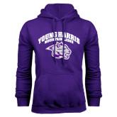 Purple Fleece Hoodie-Official Logo