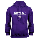 Purple Fleece Hoodie-Young Harris College Softball
