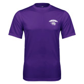 Syntrel Performance Purple Tee-Official Logo