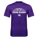 Syntrel Performance Purple Tee-Young Harris Basketball Half Ball