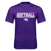 Performance Purple Tee-Young Harris College Softball