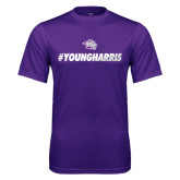 Performance Purple Tee-#YoungHarris