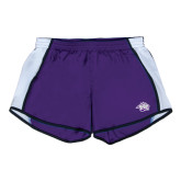 Ladies Purple/White Team Short-Spirit Mark
