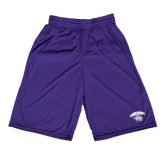 Midcourt Performance Purple 9 Inch Game Short-Official Logo