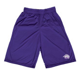 Midcourt Performance Purple 9 Inch Game Short-Spirit Mark