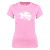 Ladies Performance Light Pink Tee-Spirit Mark