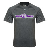 Under Armour Carbon Heather Tech Tee-Young Harris Flat w/ Spirit Mark