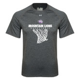 Under Armour Carbon Heather Tech Tee-Mountain Lions Basketball w/ Hanging Net