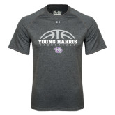 Under Armour Carbon Heather Tech Tee-Young Harris Basketball Half Ball
