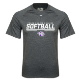 Under Armour Carbon Heather Tech Tee-Young Harris College Softball