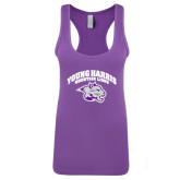 Next Level Ladies Purple Berry Jersey Racerback Tank-Official Logo