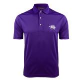 Purple Dry Mesh Polo-Spirit Mark