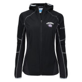 Columbia Ladies Sweet As Softshell Black Jacket-Official Logo