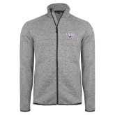 Grey Heather Fleece Jacket-Spirit Mark