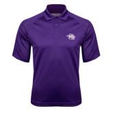 Purple Textured Saddle Shoulder Polo-Spirit Mark