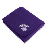 Purple Arctic Fleece Blanket-Official Logo