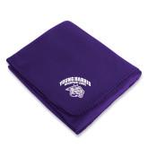 Purple Arctic Fleece Blanket-Official Logo