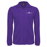 Fleece Full Zip Purple Jacket-Young Harris Flat w/ Spirit Mark