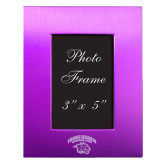 Purple Brushed Aluminum 3 x 5 Photo Frame-Official Logo Engraved