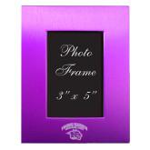 Purple Brushed Aluminum 3 x 5 Photo Frame-Official Logo Engraved