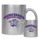 11oz Silver Metallic Ceramic Mug-Official Logo