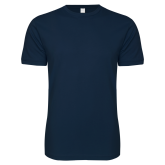 Next Level SoftStyle Navy T Shirt-Select-A-Logo