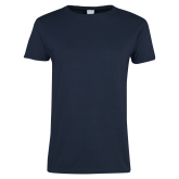 Ladies Navy T Shirt-Select-A-Logo