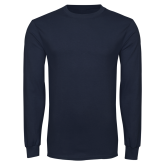 Navy Long Sleeve T Shirt-Select-A-Logo