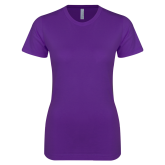 Next Level Ladies SoftStyle Junior Fitted Purple Tee-Select-A-Logo
