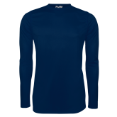 Under Armour Navy Long Sleeve Tech Tee-Select-A-Logo