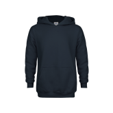 Youth Navy Fleece Hoodie-Select-A-Logo