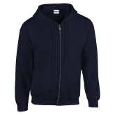 Navy Fleece Full Zip Hoodie-Select-A-Logo