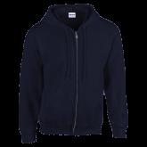 Navy Fleece Full Zip Hoodie-Select-A-Logo