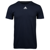 Adidas Climalite Navy Ultimate Performance Tee-Select-A-Logo