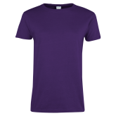 Ladies Purple T Shirt-Select-A-Logo