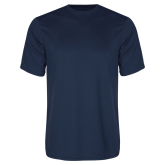 Syntrel Performance Navy Tee-Select-A-Logo