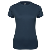 Ladies Syntrel Performance Navy Tee-Select-A-Logo
