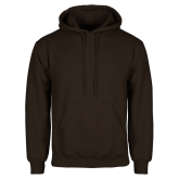 Brown Fleece Hoodie-Select-A-Logo