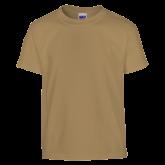 Youth Khaki Gold T Shirt-Select-A-Logo