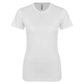 Next Level Ladies SoftStyle Junior Fitted White Tee-Select-A-Logo