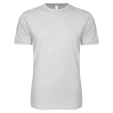Next Level SoftStyle White T Shirt-Select-A-Logo