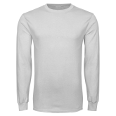 White Long Sleeve T Shirt-Select-A-Logo
