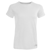 Ladies Russell White Essential T Shirt-Select-A-Logo
