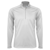 Syntrel White Interlock 1/4 Zip-Select-A-Logo