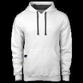 Contemporary Sofspun White Hoodie-Select-A-Logo