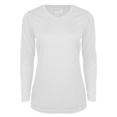 Ladies Syntrel Performance White Longsleeve Shirt-Select-A-Logo
