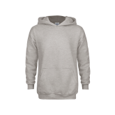 Youth Grey Fleece Hood-Select-A-Logo