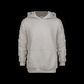 Youth Grey Fleece Hood-Motto Logos
